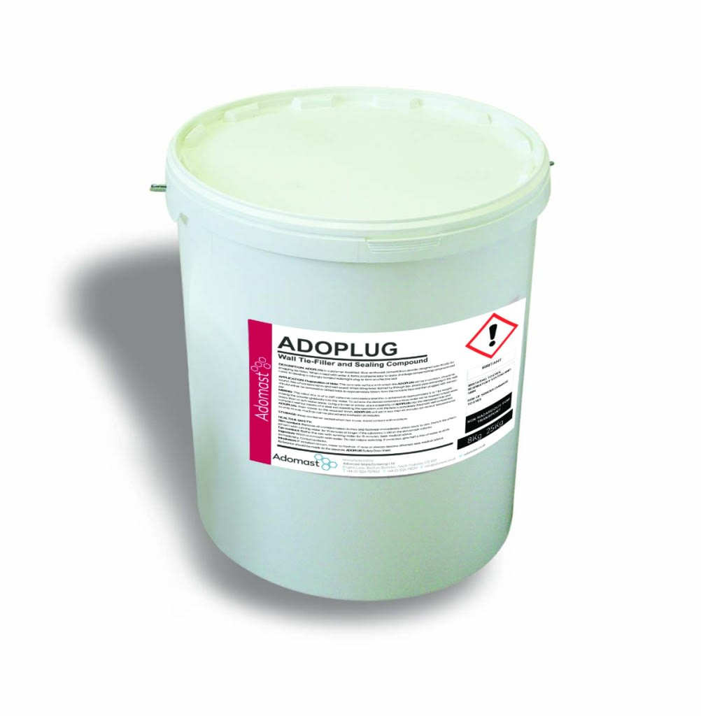 Adoplug wall tie filler and sealing compound